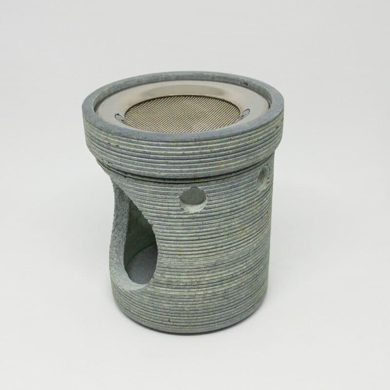 Räucherstövchen Modern Speckstein grau