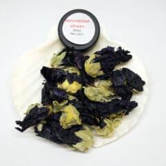 Malvenblüten schwarz ganz Einzelräucherwerk Bild