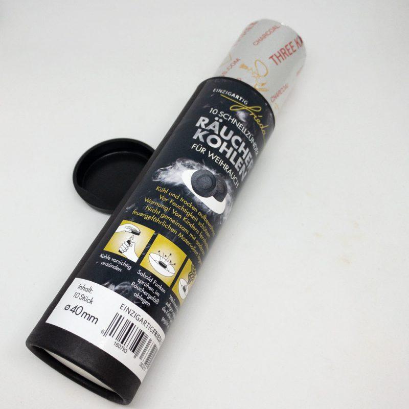 Räucherkohle 4cm Detail TalaNia Räucherwelt Produktbild